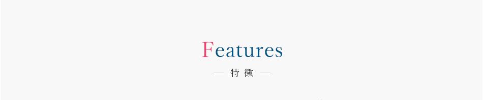 Features 特徴